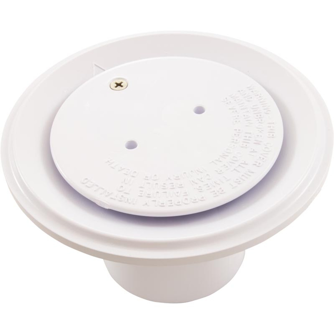 "STA-RITE PENTAIR 08417 Swimming Pool Spa FLOOR DRAIN INLET COVER White 2/"" NEW"