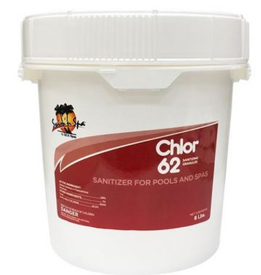 Chlor 62 Chlorine Sanitizer for Pools and Spas 8 Lbs 47239985