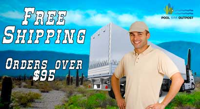 Free shipping at Pool Spa Outpost