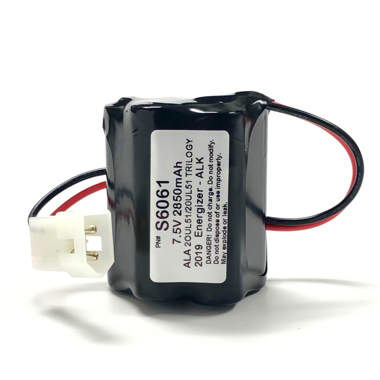 Alarm Lock S6061 Trilogy Replacement Battery Pack For DL2700 (No Case)