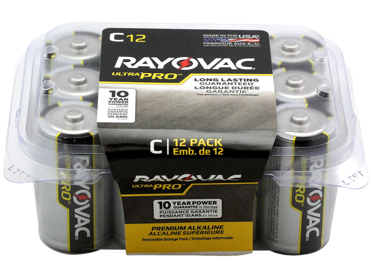 Rayovac Ultra Pro AL-C-12 1.5V Alkaline Button Top Batteries - 12 Pack (ALC-12PPC)