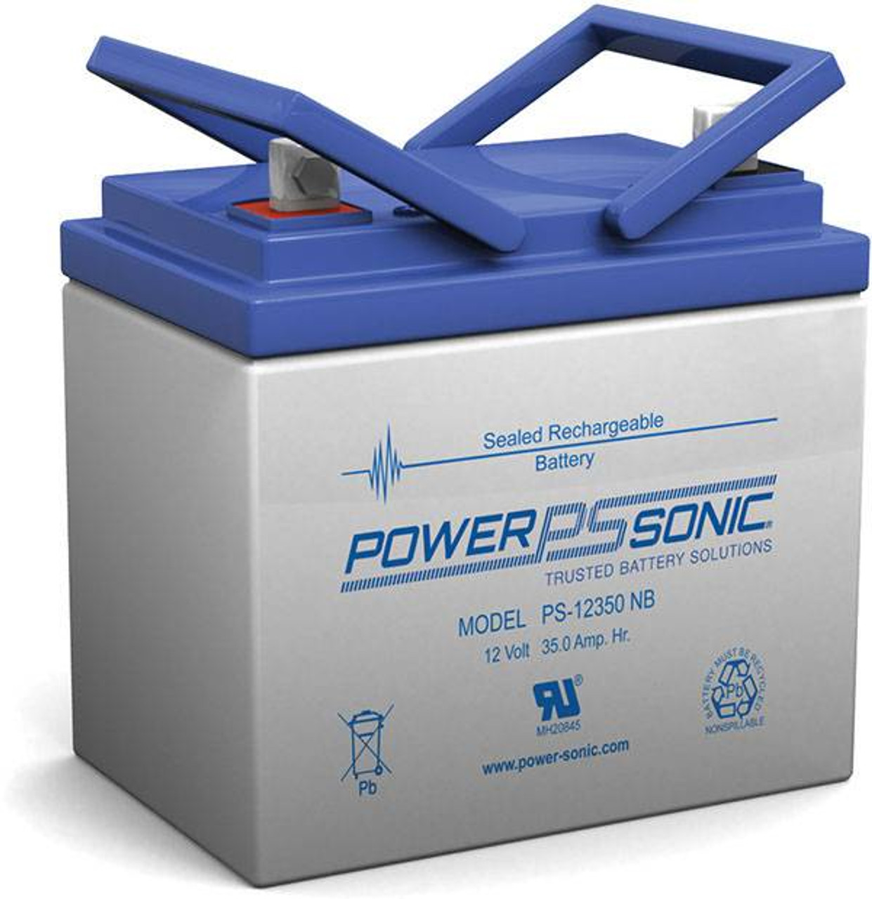 Power-Sonic® AGM General Purpose PS-12350 35Ah 12V Rechargeable Sealed Lead Acid (SLA) Battery - NB Terminal