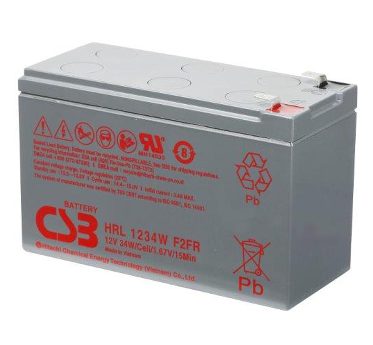 HRL1234WF2FR 12V 9AH 34W High Rate CSB Battery