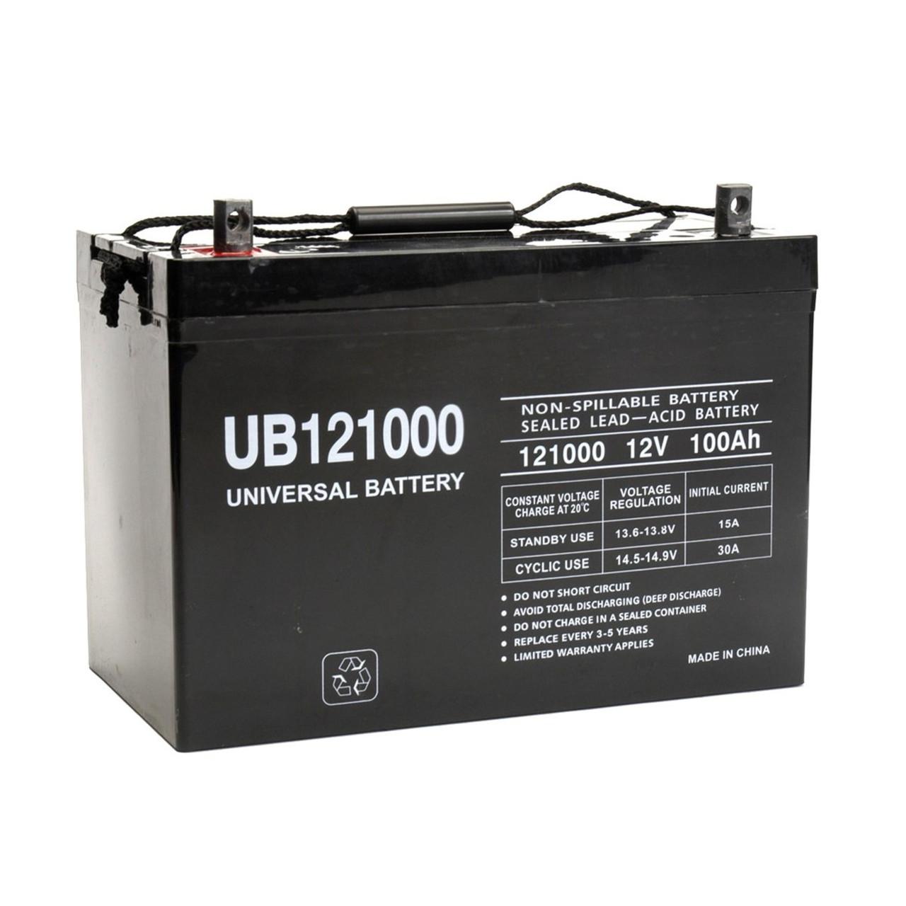 UB121000 Internal Thread Terminals - 12 Volt 100 Ah AGM Battery (45973)