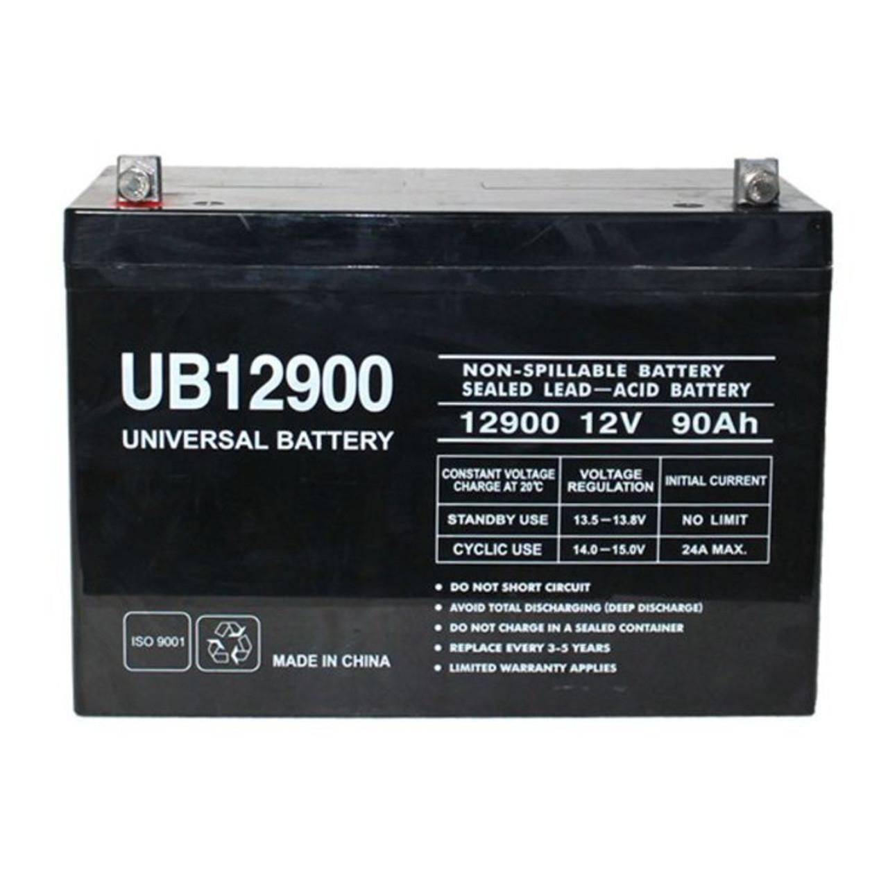 UPG UB12900 12V 90Ah I4 AGM Group 27 Battery (45823)