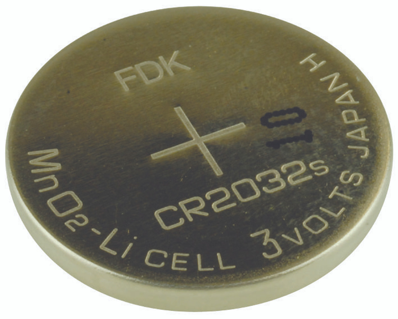 FDK CR2032 165mAh 3V Lithium (LiMnO2) Coin Cell Battery - Bulk