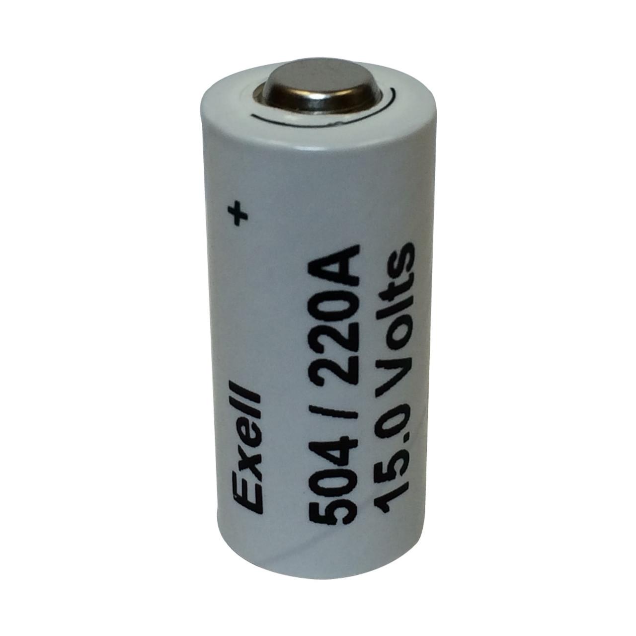 A220/504A 15V Alkaline Exell Battery NEDA 220
