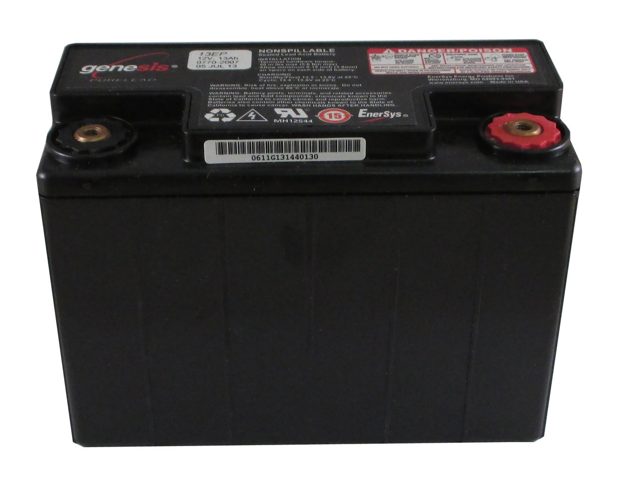 Enersys Genesis G13EP Battery - 12V 13.0Ah Sealed Lead Rechargeable