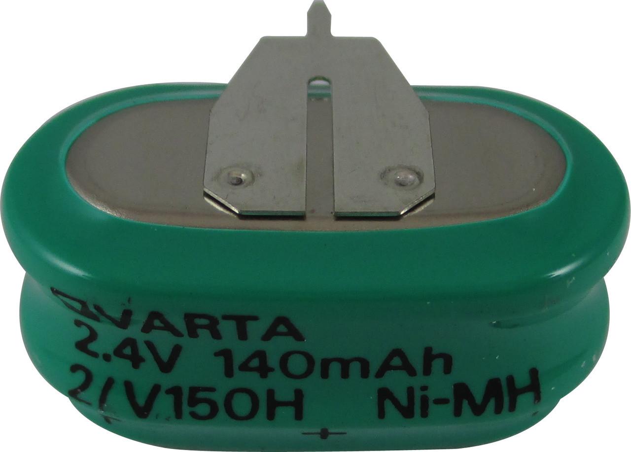 Varta 55615302059 - 2/V150H SK S PCBD Battery - 2.4V 150 Milliamp Hour Ni-MH 3 Pins(2+/1-)