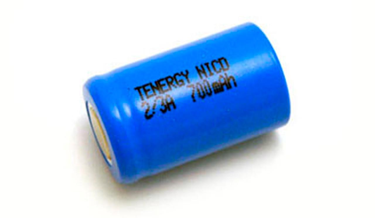 Tenergy 1.2V 780mAh Ni-Cd Rechargeable 2/3A Battery - 20202