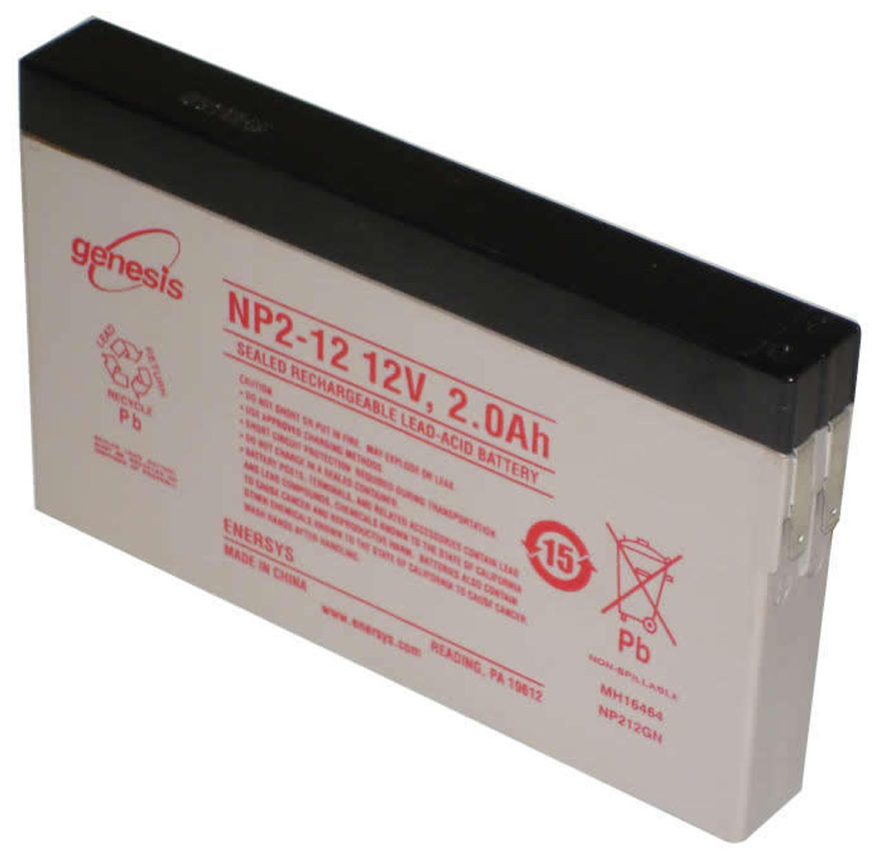 NP2-12 Sealed Lead Battery 12v 2.0ah Enersys Genesis  (side terminals)