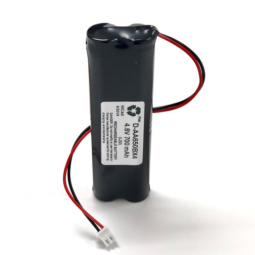Aftermarket Replacement for D-AA650BX4 4.8V 700MAH Lithonia Battery (Long Version)