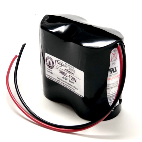 0800-0009 4.0V 5.0AH w/Wire Leads  SLA Enersys Cyclon Battery Pack