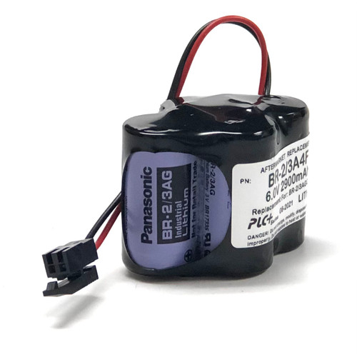 Aftermarket Replacement for BR-2/3AGCT4A Battery Replacement with Black Clip Connector