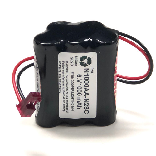 Aftermarket Replacement for Cooper Lighting LPX70GWH M-4 Replacement Battery
