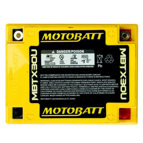 MBTX30U MotoBatt Sealed AGM QuadFlex Battery 12V 32AH