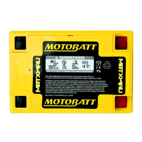 MBTX14AU MotoBatt Sealed AGM QuadFlex Battery 12V 16.5AH