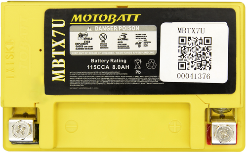 MBTX7U MotoBatt Sealed AGM QuadFlex Battery 12V 8AH