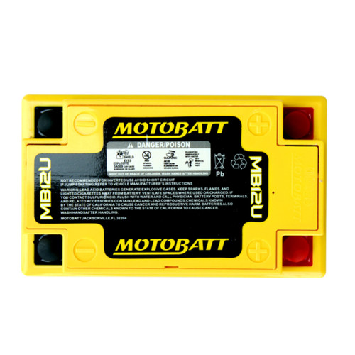 MB12U MotoBatt Sealed AGM QuadFlex Battery 12V 15AH