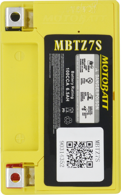MBTZ7S  MotoBatt Sealed AGM QuadFlex Battery 12V 6.5AH