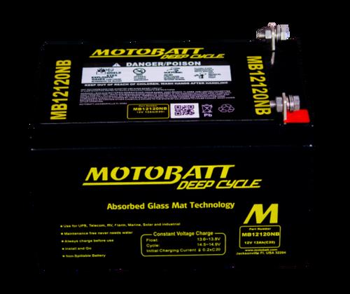 MB12120NB 12V 12AH MOTOBATTERY AGM DEEP CYCLE