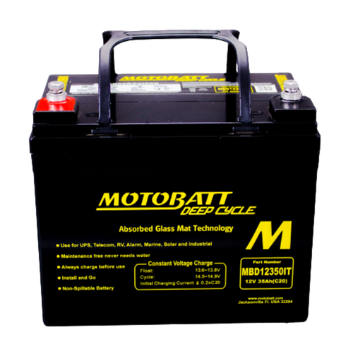 MBD12350IT Motobatt 12V 35AH AGM Battery Deep Cycle