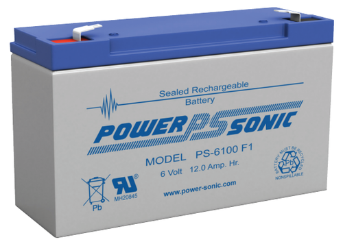 Power-Sonic PS-6100 Battery - 6v 12ah