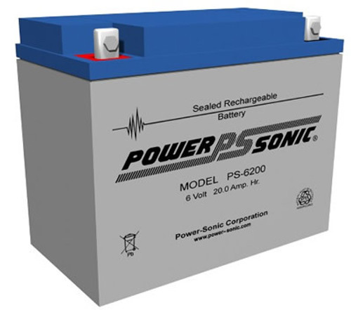 Power-Sonic PS-6200 Battery - 6v 20ah