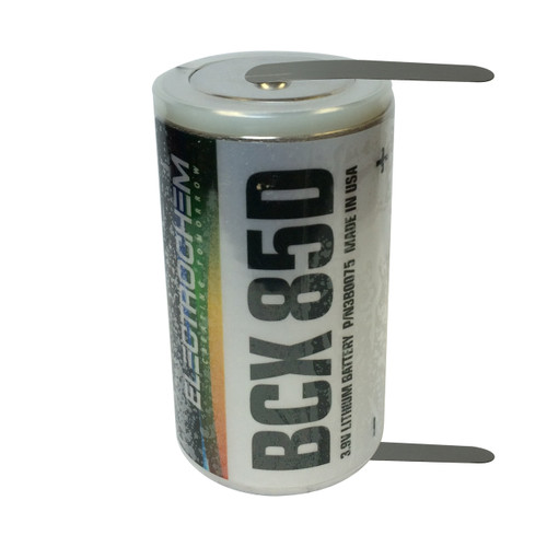 Electrochem 3B0075 Battery - BCX85D 3.9V 15Ah Lithium D Cell with Solder Tabs