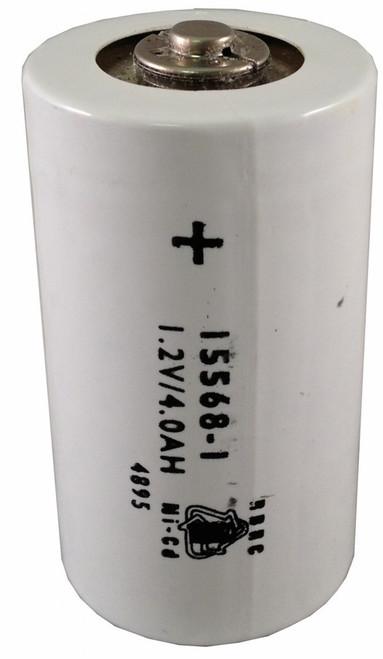 Megger 15568-1 Battery by Saft - 1.2V 4500mAh D Ni-Cd (Button Top)