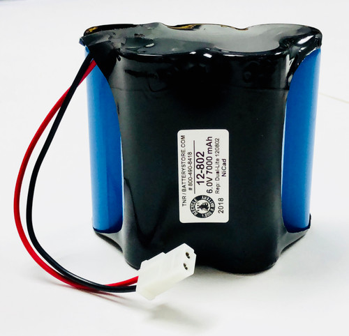 Aftermarket Replacement for12-802 Dual-Lite Hubbell Battery