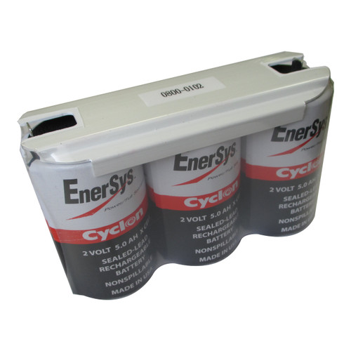 Enersys Cyclon 0800-0102 Battery - 6V 5.0Ah Sealed Lead Rechargeable (Shrink Wrap)