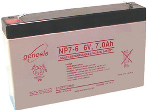 Enersys Genesis NP7-6 Battery - 6 Volt 7.0 Amp Hour
