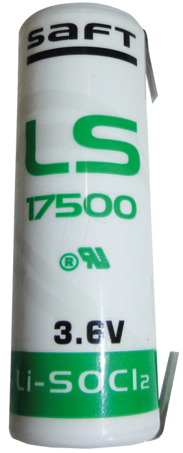 LS17500 CN  Saft Battery with Tabs