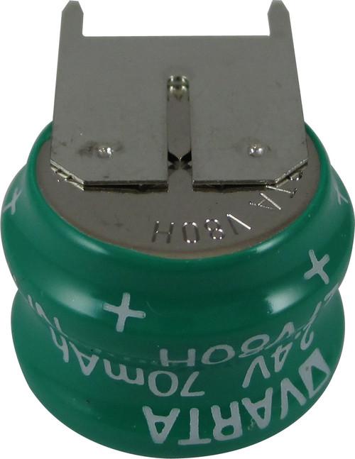 Varta 55608302059 - 2/V80H SK S PCBD Battery - 2.4V 80 Milliamp Hour Ni-MH 3 Pins(2+/1-)
