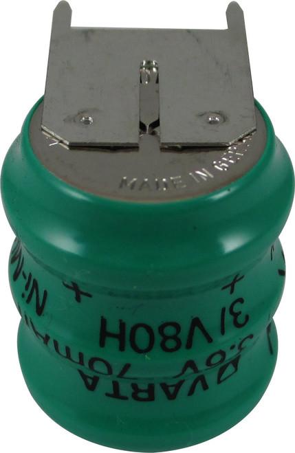 Varta 55608303059 - 3/V80H SK S PCBD Battery - 3.6V 80 Milliamp Hour Ni-MH 3 Pins(2+/1-)