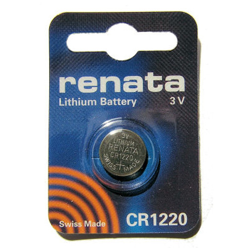 Renata CR1220 Lithium Battery - 3V 40mAh
