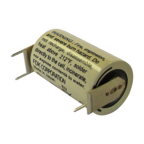 FDK CR14250SE-FT Battery - 3 Volt 850mAh 1/2 AA Lithium 3 Pins (2+/1-)