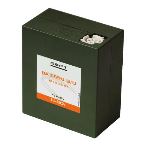 Saft BA-5590B/U Lithium Li-SO2 Battery - 12V 15Ah and 24V 7.5Ah Modes