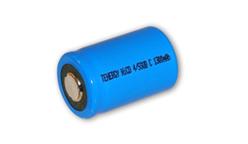 Tenergy 1.2V 1300mAh Ni-Cd Rechargeable 4/5 Sub C Battery - 20303