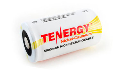 Tenergy 1.2V 5000mAh Ni-Cd Rechargeable D Battery - 20501