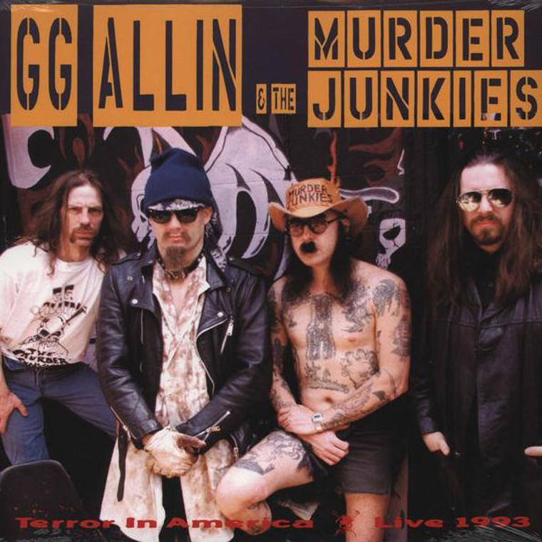 GG ALLIN & THE MURDER JUNKIES  - Terror in America -black vinyl LP
