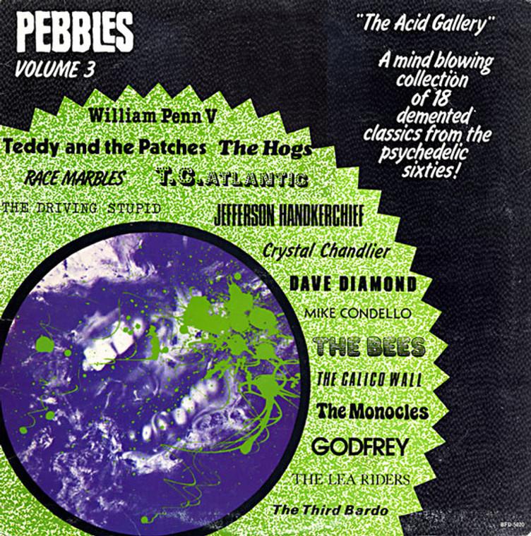 PEBBLES - Vol 03  THE ACID GALLERY (ORIGINAL 60s PUNK AND PSYCH CLASSICS )Comp LP