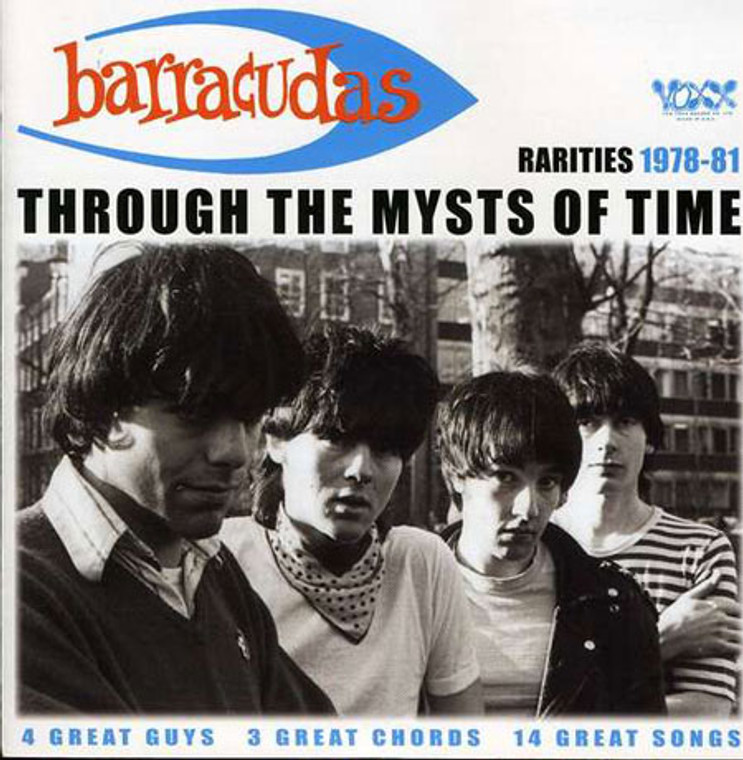 BARRACUDAS - Through the Mysts of Time ( POWERPOP DEMOS and outtakes)  CD