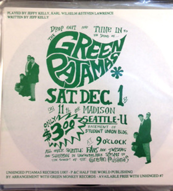 GREEN PAJAMAS  -  Such A Lovely Daughter -Very rare early flexi disc(Brit -style paisley underground psych) 45 RPM