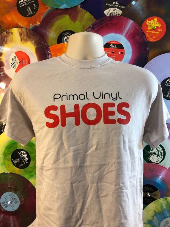 SHOES  - Primal Vinyl - Light gray T SHIRT LAST ONES!