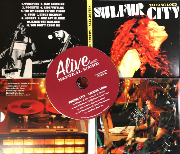 SULFUR CITY  - Talking Loud (gritty blues  Grace Slick, Patti Smith  style!)  CD