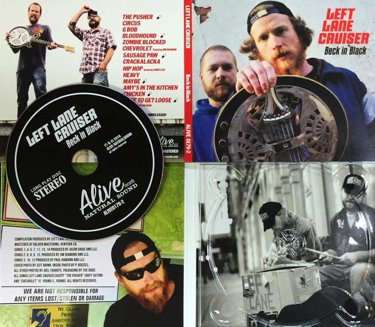 LEFT LANE CRUISER  - BECK IN BLACK with SIX NEW TRACKS ! DIGIPACK CD