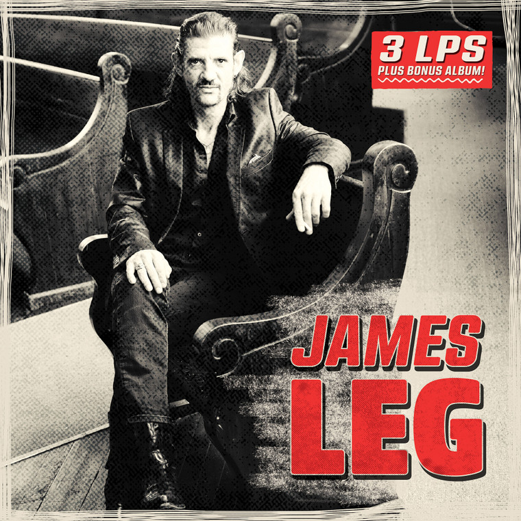 JAMES LEG - 4 LP BOX SET- W FREE BONUS LP & POSTER  (Former BLACK DIAMOND HEAVIES blues powered rock 'n' roll)