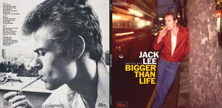 LEE,JACK -AUTOGRAPHED! (NERVES, 70s POWERPOP) BIGGER THAN LIFE -ANTHOLOGY- STARBURST GATEFOLD  DBL LP